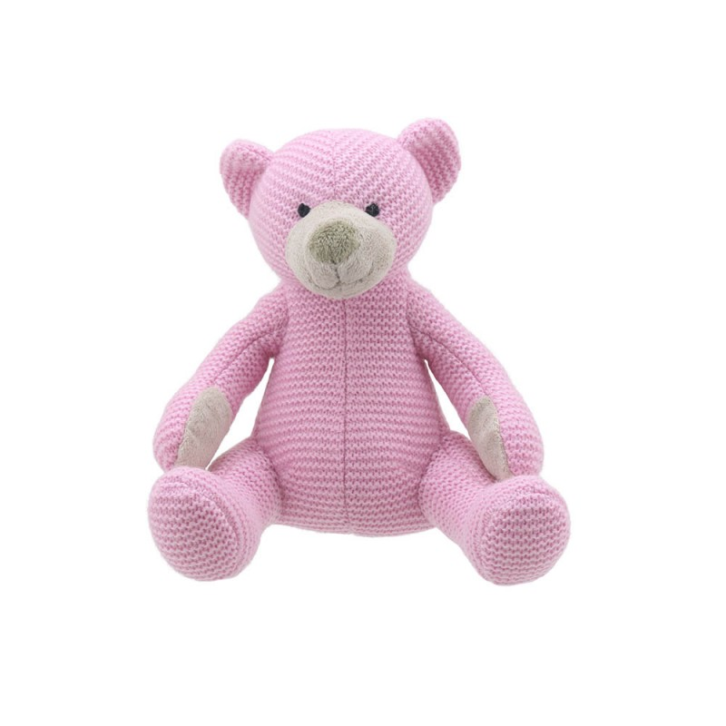 Bear - Pink Small - Wilberry Knitted