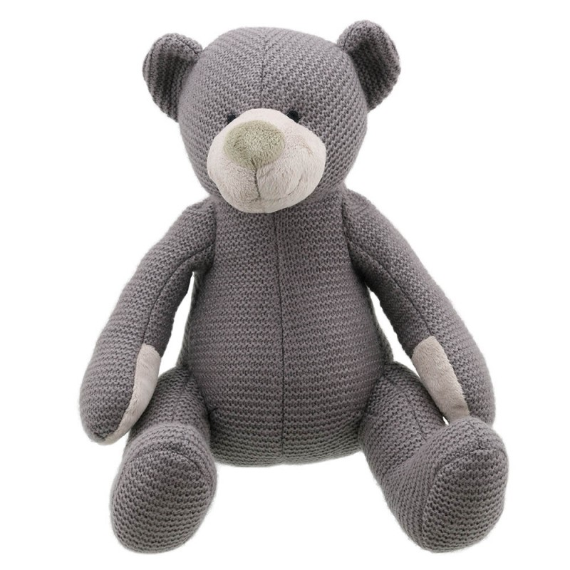 Bear - Grey Large - Wilberry Knitted