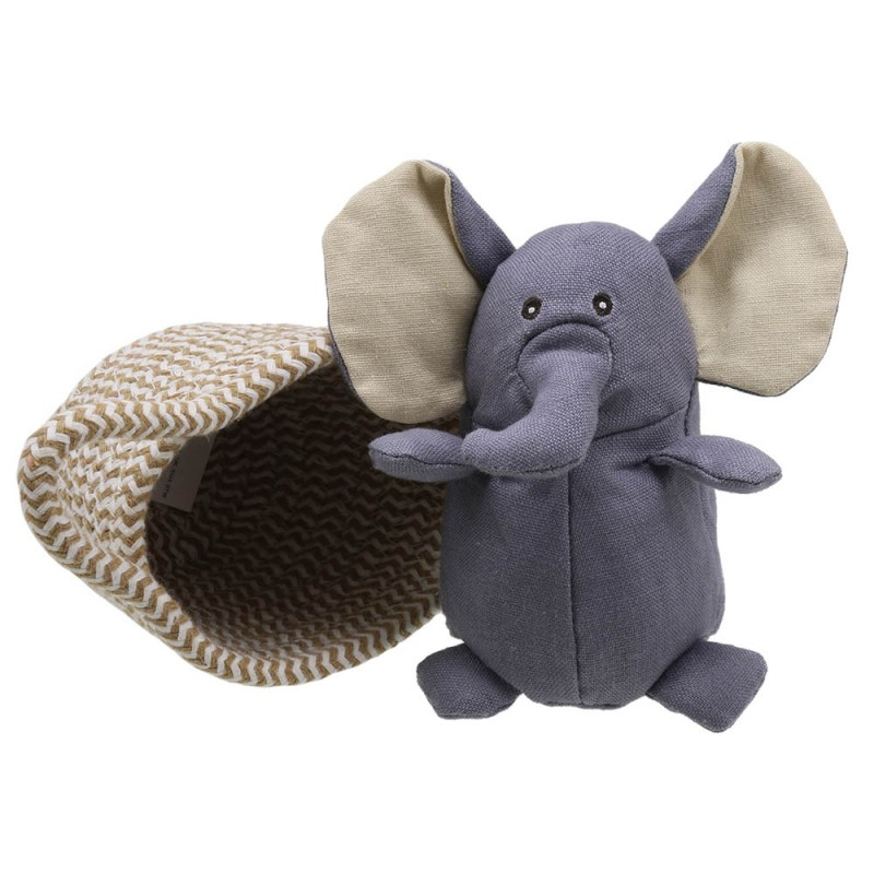 Elephant (Grey) - Wilberry Pets in Baskets